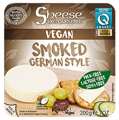 sheese german style smoked vegan cheese