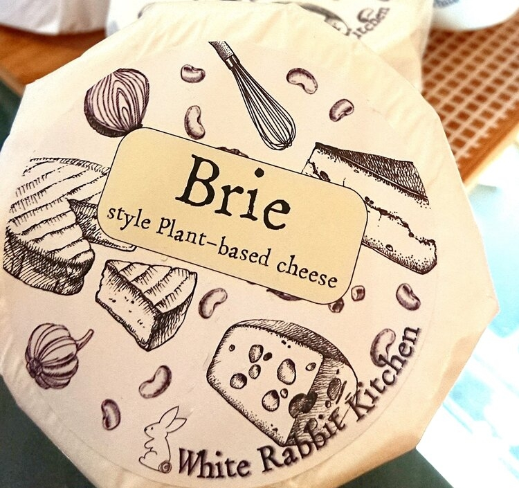white rabbit brie vegan cheese