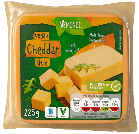 vemondo cheddar style vegan cheese in lidl