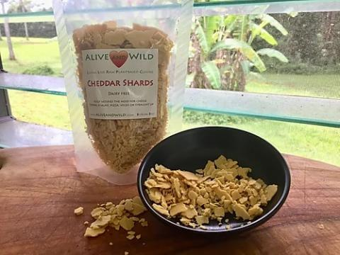 Alive and Wild Macadamia Nut Cheddar Shards Vegan Cheese