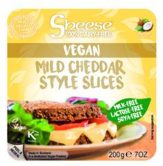 Mild Cheddar Style Vegan Cheese Slices
