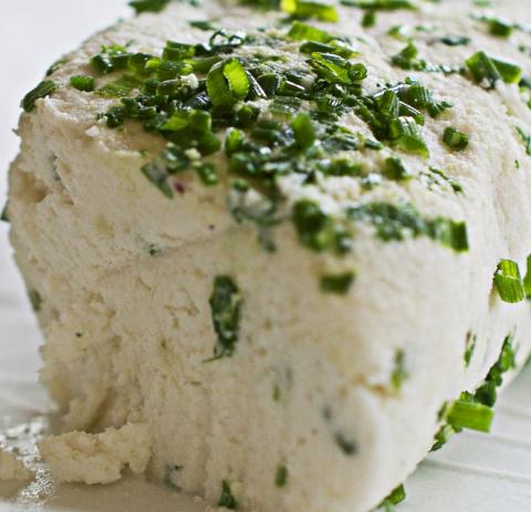 Vromage Goat's Cheese with Chives Vegan Cheese