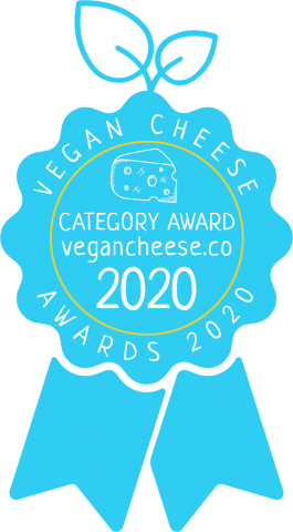 vegan cheese awards badge best of 2020
