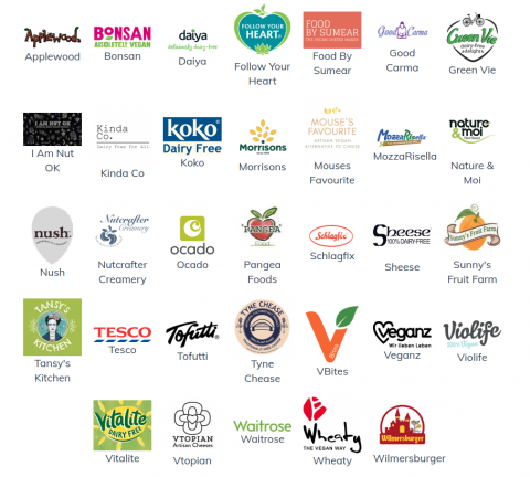 vegan cheese brands icons