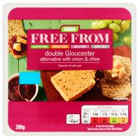 ASDA Free From Double Gloucester Alternative with Onion & Chive Vegan Cheese