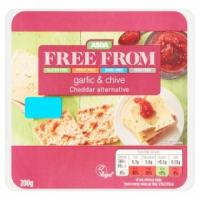 ASDA Free From Garlic & Chive Cheddar Alternative Vegan Cheese