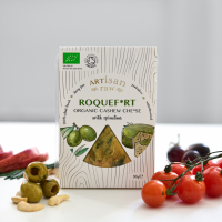 Artisan Raw Roquef*rt with Spirulina Vegan Cheese