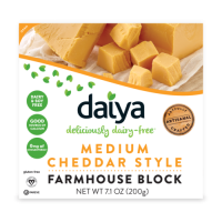 Daiya Medium Cheddar Style Vegan Cheese Farmhouse Block