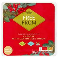 Morrisons Free From Cheddar & Caramelised Onion Vegan Cheese