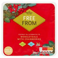 Morrisons Free From Wensleydale With Cranberries Vegan Cheese