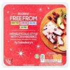 Sainsburys Deliciously Free From Wensleydale-Style with Cranberries Vegan Cheese