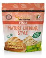Sheese Grated Vegan Cheese Mature Cheddar Style