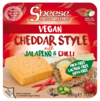 Sheese Cheddar Style with Jalapeno and Chilli Vegan Cheese