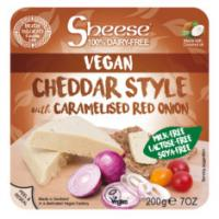 Sheese Cheddar and Red Caramelised Onion Vegan Cheese