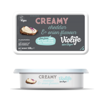 Violife Creamy Cheddar & Onion Vegan Cheese