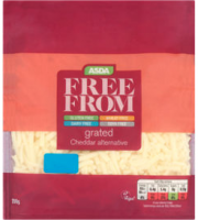 Asda Free From Grated Cheddar Alternative Vegan Cheese
