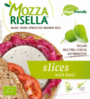 MozzaRisella with Basil Vegan Cheese Slices