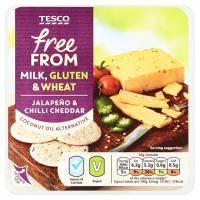 Tesco Free From Jalapeno and Chilli Cheddar Vegan Cheese