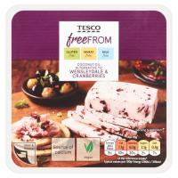 Tesco Free From Wensleydale and Cranberry Vegan Cheese